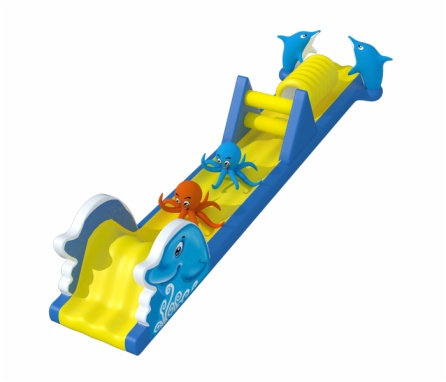 Marine-Themed Inflatable Pool Obstacle Course
