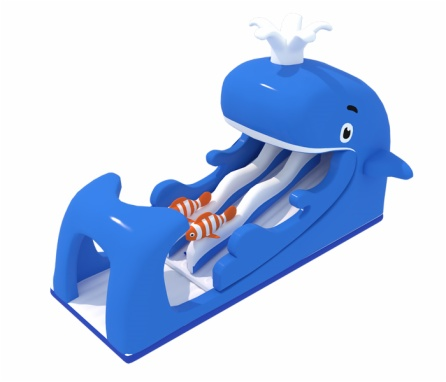 Giant Whale Inflatable Water Slide